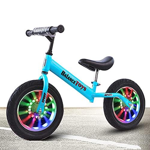 DRAGDS Bicicleta de Entrenamiento de Equilibrio de Acero Resistente, Principiante/para Niños Bicicleta Deportiva Al Aire Libre con 12/14 Pulgadas a Prueba de Fugas, Mejor Regalo de Cumpleaños para
