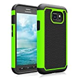 Galaxy S7 Active Case, Jeylly(TM) [Shock Proof] Scratch Absorbing Hybrid Rubber Plastic Impact Defender Rugged Slim Hard Case Cover Shell for Samsung Galaxy S VII Active AT&T SM-G890 G891