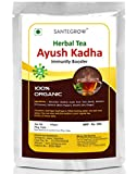 Santegrow Ayush Kadha Immunity Booster Ready Made Powder - Govt. Recommended Ingredients (Tulsi,Dalchini,Kali Mirch,Sonth)