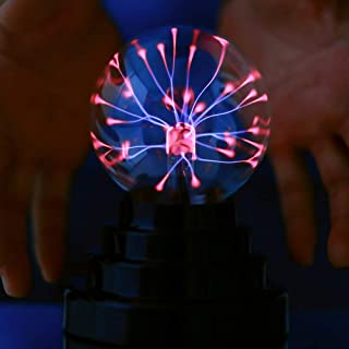 Bola electrostática mágica de plasma portátil con USB o pilas para regalo de cumpleaños y vacaciones, luz nocturna decorativa