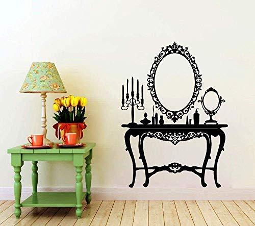 Muurtattoo, muurstickers, vinyl, retro, pleisters, spiegels, schoonheid, kinderen, slaapkamer, zelfklevend, poster, 80 x 58 cm