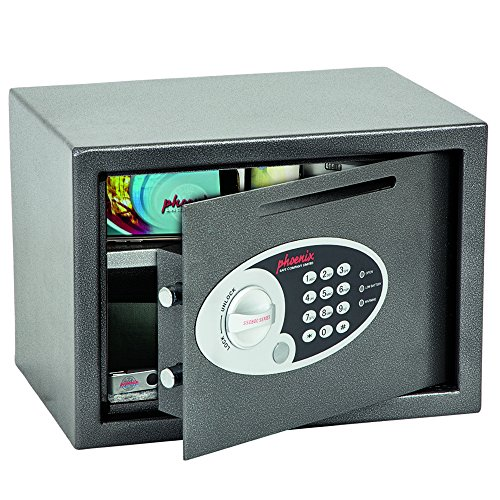 Phoenix Vela SS0802ED Deposit Home & Office Safe met elektronisch codeslot, grafietgrijs (klein)