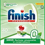 Finish Pastilles Lave-Vaisselle Powerball All in One 0% - 40 Tablettes Lave-Vaisselle