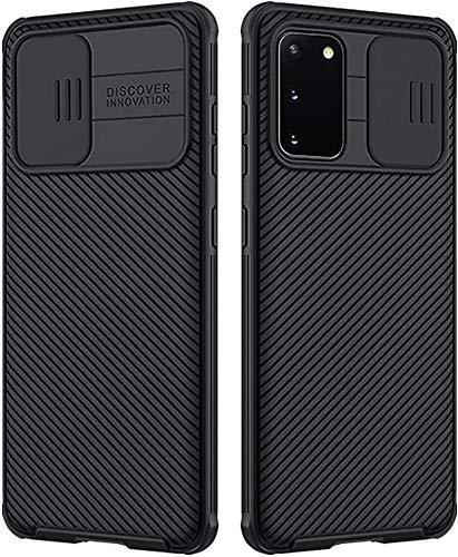 Preisvergleich Produktbild Handyhülle für Samsung Galaxy S20 5G Hülle CamShield,  E-Lush Hülle Schiebekamera-Abdeckung Schutzhülle Ultra Dünn Premium Handy Tasche Stoßfest Hybrid PC Handyhülle Kratzfest Case Cover,  Schwarz