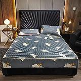 FJMLAY Sábanas ajustablesperfecto para el colchón, sensación Suave,Sábana Bajera de látex para Cama, Dormitorio,...