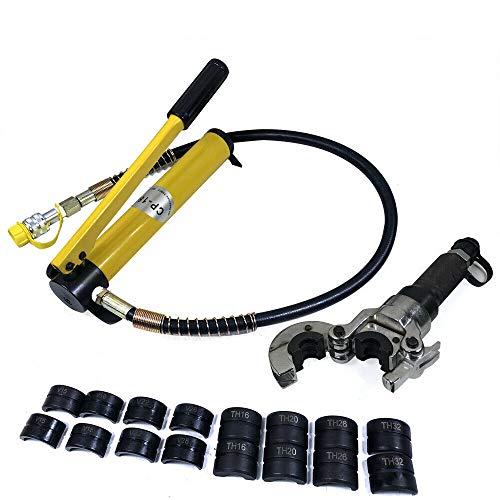 Juego de herramientas de prensado manual de 6T para tubos V/TH (forma de V 12 – 28 mm/T 16 – 32 mm)