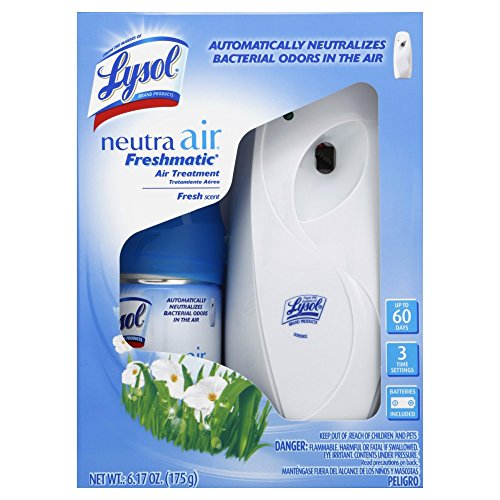 Lysol Neutra Air Freshmatic Automatic Spray Kit (Gadget + 1 Refill) Fresh Scent, Air Freshener,...