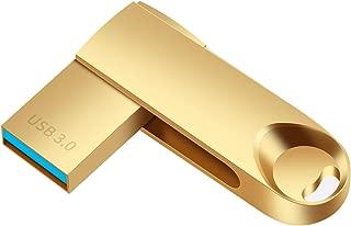POPAPL 256GB USB 3.0 Flash Drives Pen Drive Memory Stick Thumb Drive USB Drives (Flash Drive 256gb, Gold)