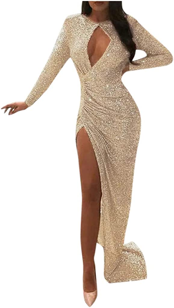 Women Slim Hollow Lace Dress Sling Cross Wedding V-Neck Elegant Party Evening Dress