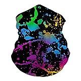 Glow in Dark Paint Splatter Bandanas Multifunction...