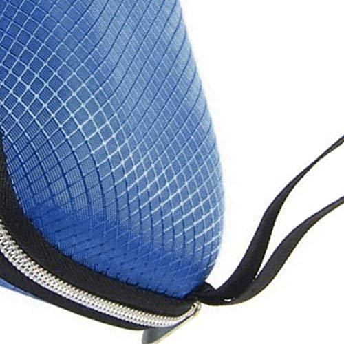 AchidistviQ Tragbarer ReißVerschluss-Rechteck-Raster-Sonnenbrille-Kasten-Harte Eyewear-Glas-Aufbewahrungsbox Blue