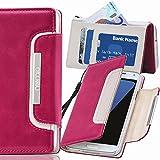 Samsung Galaxy Note 3 Neo Hülle, numia Handyhülle Handy Schutzhülle [Book-Style Handytasche mit Standfunktion & Kartenfach] Pu Leder Tasche für Samsung Galaxy Note 3 Neo N7505 Hülle Cover [Pink-Weiss]