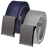 Build A Belt Cinturón para hombre con hebilla de pinza de peltre pulida, resistente cinturón de...