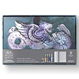 Winsor & Newton 0390659 Cotman Postkarten Geschenk-Kollektion, 3 Aquarellfarben, 1 Zeichentusche, 1...