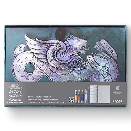 Winsor & Newton - confezione regalo acquerello Cotman + cartoline + pennello + inchiostro