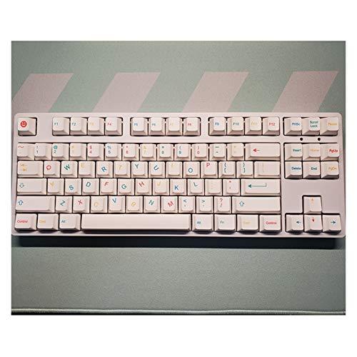 Removedor de Llavero 129 Llaves/Set KeyCaps Cool Teclado mecánico PBT Dye Sublimation Key Taps Perfil Pusher KEYCAP para Teclado MECÁNICO (Color : Cool Kids)