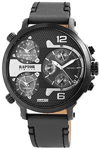 Raptor Limited Maxx Herren-Uhr Analog Quarz 3 Zeitzonen RA20130