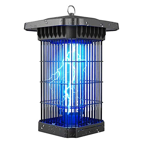 White Kaiman Back Yard Bug Zapper 18W High Powered 4000V UV Lamp Mosquito and Bug Killer Indoor & Outdoor for Home, Garden, Back Yard and Patio Weather Proof