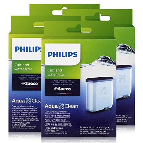 Saeco, Cartucce filtranti AquaClean anticalcare, 4 pezzi