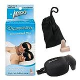 Mack's Dreamweaver Contoured Sleep Mask - Comfortable, Adjustable, 2 Strap Eye Mask with Mack's Ultra Soft Foam Earplugs