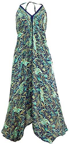 Guru-Shop Boho Sommerkleid, Magic Dress, Maxirock, Midikleid, Strandkleid, Damen, Türkis, Synthetisch, Size:40, Lange & Midi-Kleider Alternative Bekleidung
