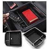 RUIYA Caja de almacenamiento para reposabrazos de Seat Alhambra, organizador para consola central de coche, accesorios para el coche, color negro