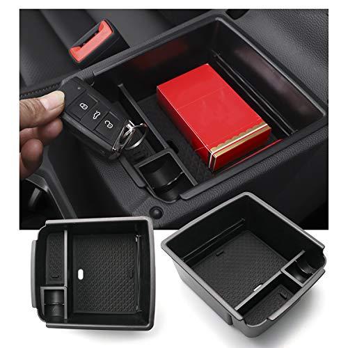 RUIYA für Tiguan 2 MK2 Mittelkonsole Aufbewahrungsbox, Armlehne Organizer Tray Tablett, Auto Zubehör