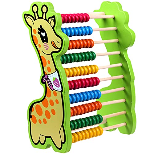 Soporte de cálculo Fawn Abacus educación para la Primera Infancia Abacus Abacus Soporte aritmético para bebés de Madera Abacus Juguete Material didáctico de matemáticas