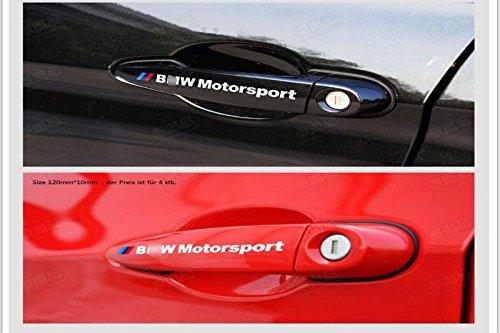 D477 4 stück Türgriffe weiss auto aufkleber Abziehbild Plakette Schriftzug Car Motorrad Sticker