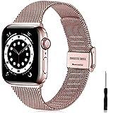 Ouwegaga Ersatz Armband Kompatibel mit Apple Watch Armband 38mm 40mm 42mm 44mm SE, Klassisches...
