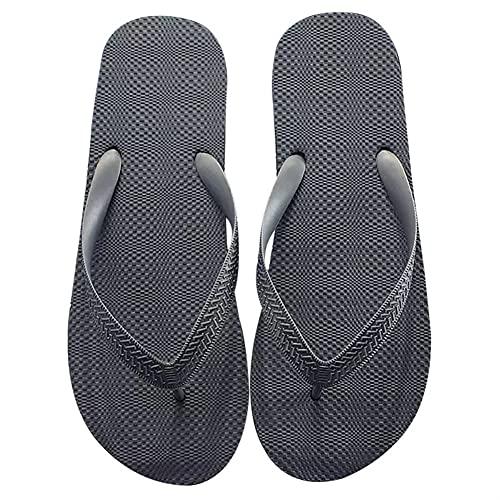 Deslizadores De Los Hombres, Zapatos De Playa Antideslizantes Al Aire Libre, Sandalias Planas Del Flip-flop De Secado Rápido, Ligeras Y Suaves (Color : GREY 1, Shoe Size : 45)