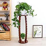 Mesa de soporte de planta de madera alta Taburete de planta decorativo de interior Soporte de pedestal para decoración del hogar, Estantes de maceta de flores onduladas únicas, Soporte de teléfono