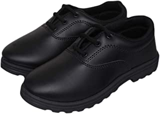 GLORY Prefect Black Kids School Shoes
