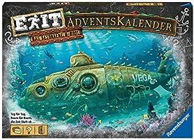 Ravensburger EXIT Adventskalender 2020 - Das gesunkene U-Boot - Ideal für Escape Room-Fans: 24 spannende Rätsel für...