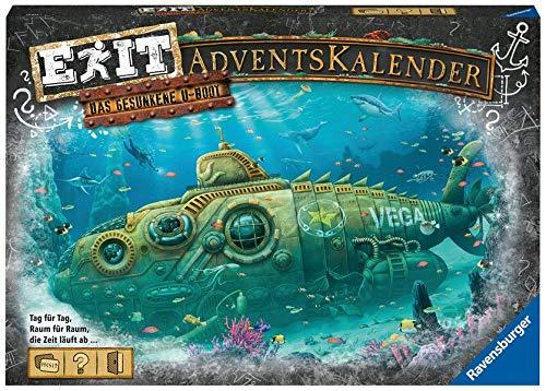 Ravensburger 18955 - EXIT Adventskalender - Das gesunkene U-Boot - 24 Rätsel für EXIT-Begeisterte ab 10 Jahren