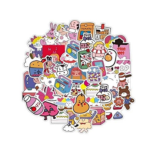 WHALES 48PCS Cool Summer Vsco Stickers Pack Bella Ragazza Anime Stikers per Bambini sul Laptop Frigo Phone Skateboard Valigia Sticker