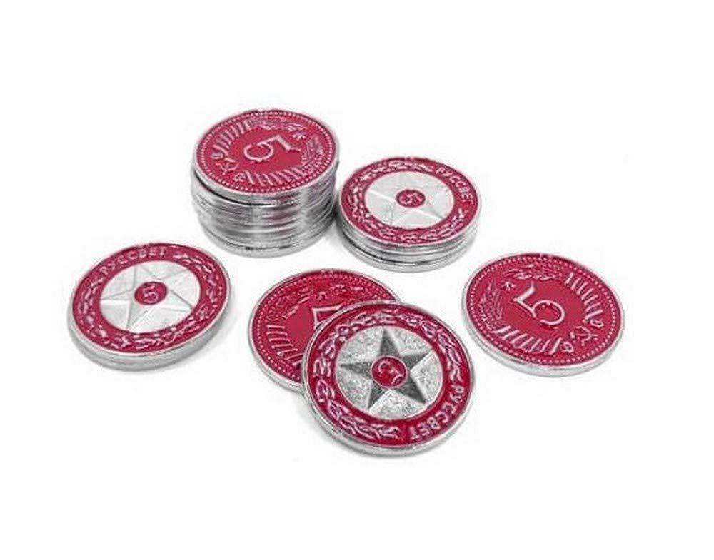 Ghenos Games Scythe Promo #17 -15 Metal $5 Red Coins - Münzen: Amazon.es: Juguetes y juegos