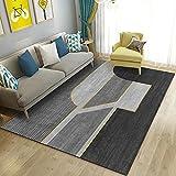 Banco Dorado Gris Alfombras de Interior y Exterior Se Utiliza para alfombras Antideslizantes en restaurantes, pasillos y Habitaciones Juveniles. 100X200cm (39X79inch)