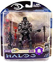 Halo 3 Mcfarlane Toys Series 3 Exclusive Action Figure Steel Spartan EOD (Sniper Rifle!)