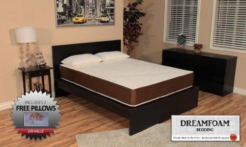 DreamFoam 10 inch Queen Memory Foam Mattress. Made in The USA