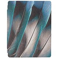 RECASO 青い愛鳥羽 デザイン iPad air4 ケース 2020 ペンホルダー付き 第二世代 半透明 TPUソフト 三つ折りスタンド オートスリープ機能 iPad 10.9 インチ カバー