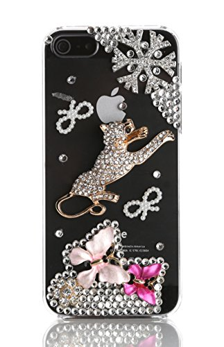 Blingmeister Shining Leopard Hülle für Apple iPhone 5/5S