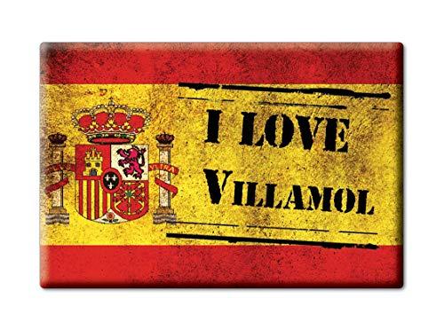 Enjoymagnets VILLAMOL Souvenir IMANES DE Nevera Reino Unido Castilla Y LEÓN IMAN Fridge Magnet Corazon I Love (VAR. Veteran)
