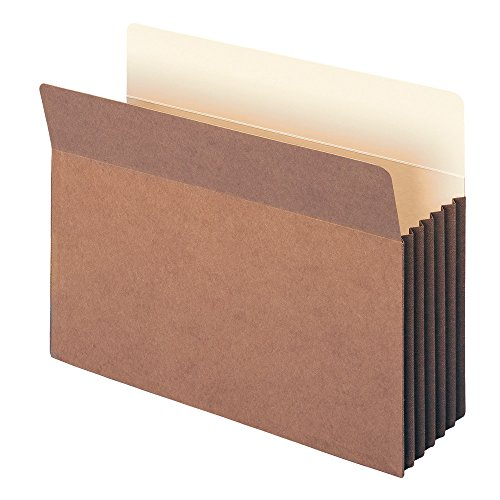 """Smead TUFF File Pocket, Straight-Cut Tab, 5-1/4"""" Expansion, Letter Size, Redrope, 10 per Box (73390)"""