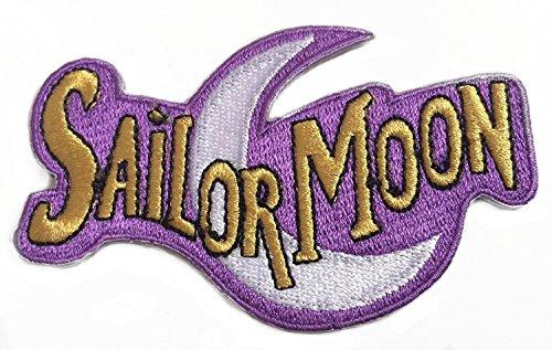 Premier Patches Sailor Moon Logo Patch 10 cm bestickt zum Aufbügeln Applikation Kostüm Magic Retro Cosplay DIY Motiv Sammlerstück Fancy Dress Retro Souvenir