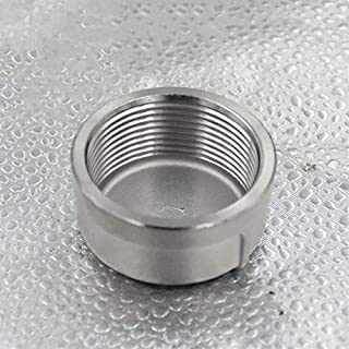SS304 Stainless Steel Pipe Tube End Cap Head Stopper Fittings Female BSP Threaded (Thread Specification: 1-1/2