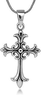fleur cross necklace