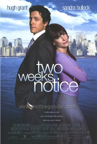 Movie Posters Two Weeks Notice - 27 x 40