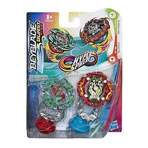 Beyblade Hasbro E7728ES0 Burst Rise Hypersphere Doppelpack Viper Hydrax H5 und Dullahan D5 – 1 Links- und 1 rechtsdrehender Battling-Kreisel, ab 8 Jahren