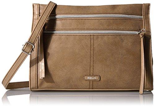 Relic by Fossil Kerrington Crossbody Handbag, Tan